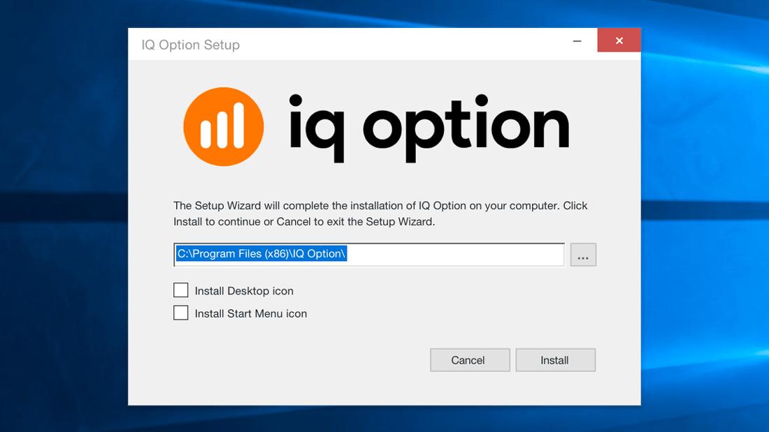 Cài đặt iq option cho máy tính laptop, desktop, windows
