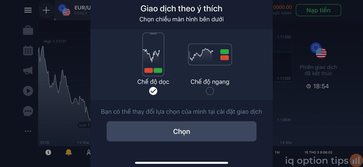Hướng dẫn chơi tải và chơi IQ Option trên điện thoại mới nhất
