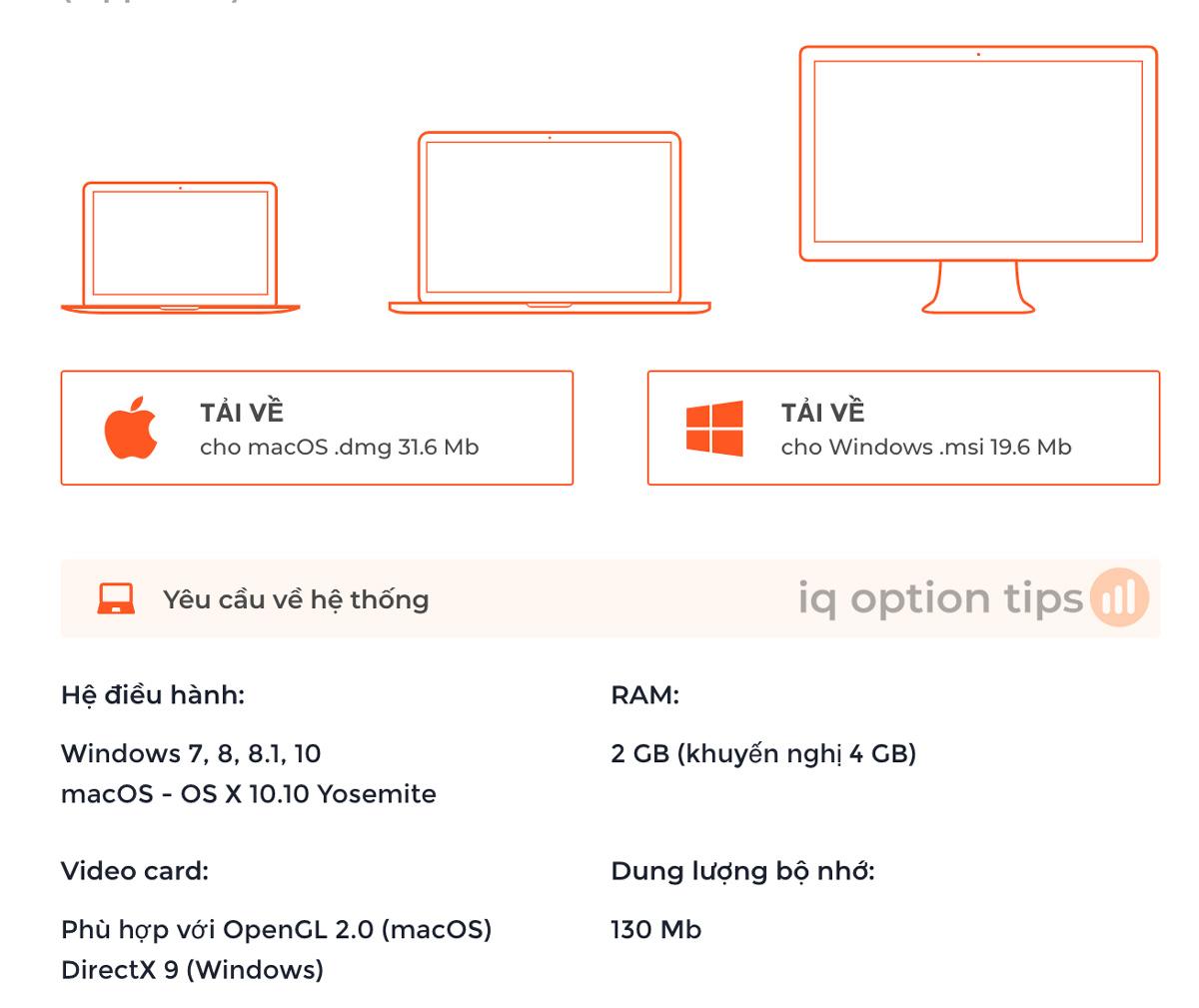 hướng dẫn tải, cài đặt ứng dụng iq option cho macbook, laptop