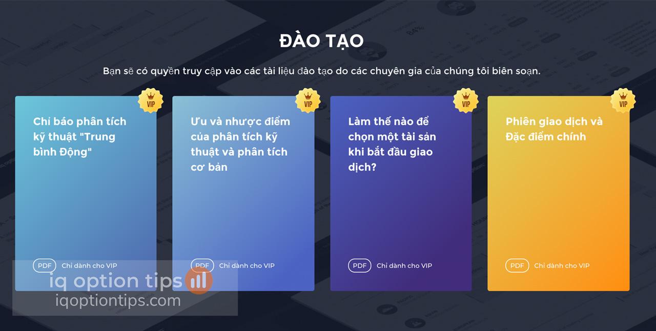 Quyền lợi tài khoản VIP iq option