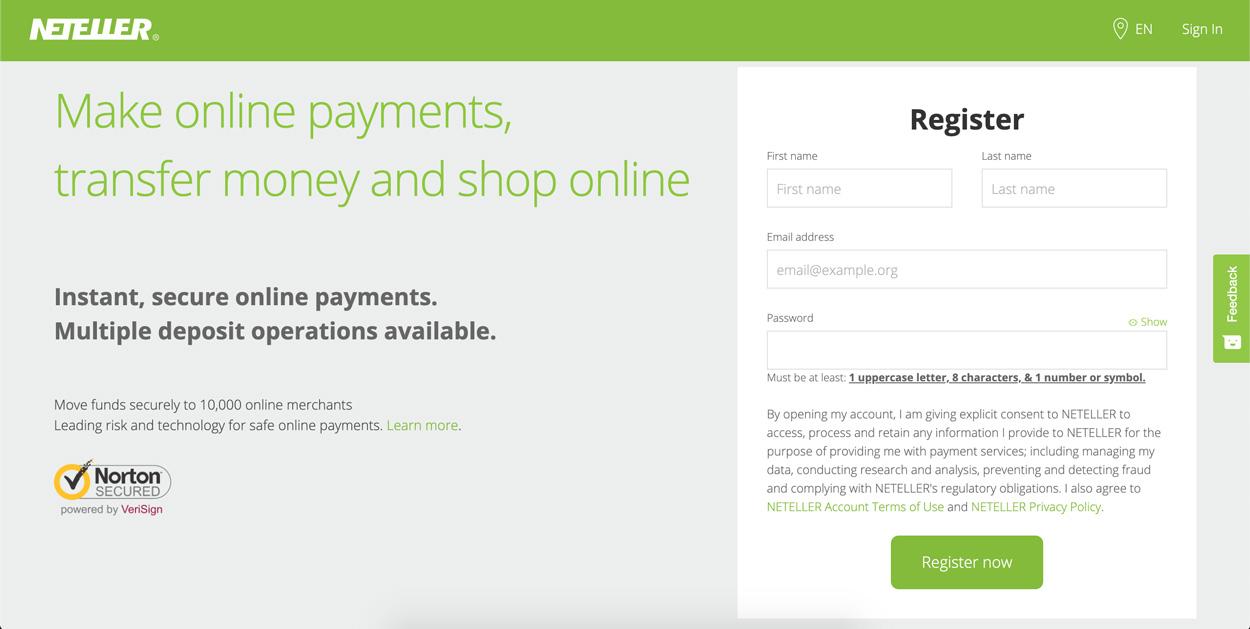 Hướng dẫn đăng ký tài khoản neteller