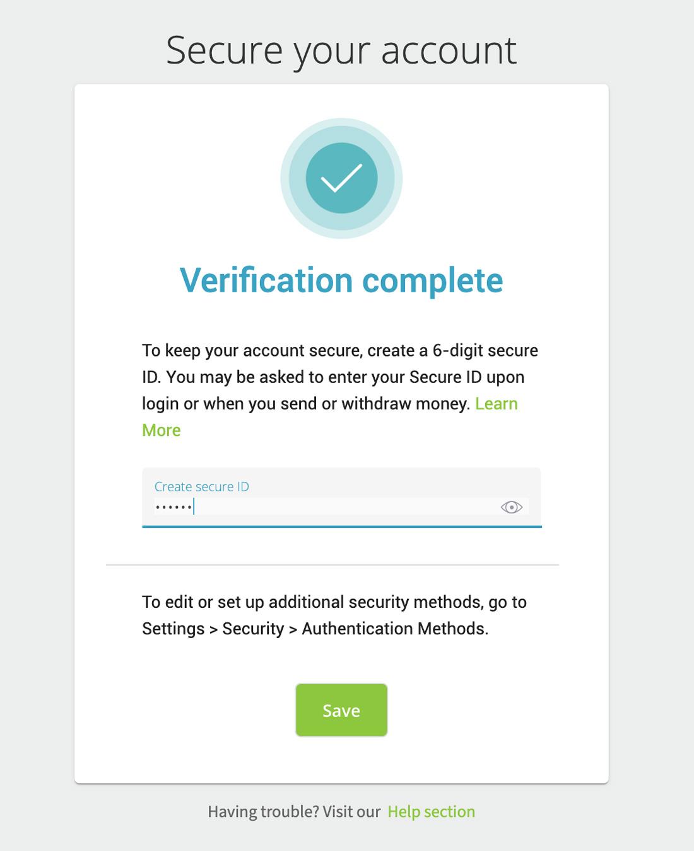 Tạo mật khẩu giao dịch ví điện tử Neteller