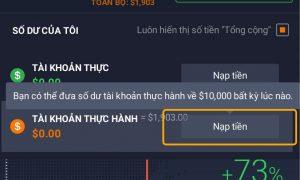Hướng dẫn khôi phục 10.000$ tiền trên tài khoản Demo IQ Option